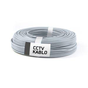 300 Metrelik Top Halinde 2 + 1 CCTV Kablo (0,50 mm)