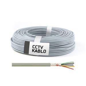 100 Metrelik Top Halinde 4 + 1 CCTV Kablo (0,22 mm)